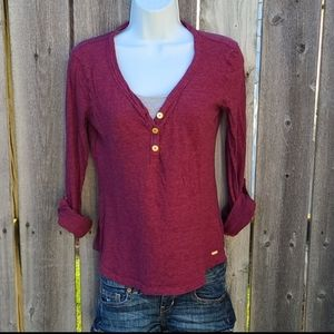 Tommy Hilfiger Top with V-neck & Tabbed Sleeves
